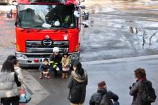 消防車と記念撮影♪