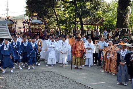 神幸祭前の川越氷川神社