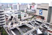 川越駅東口の広場