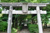 下老袋の氷川神社と集落