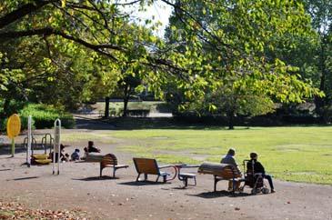 健康遊具と芝生広場
