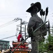 太田道灌もしっかり祭り見学