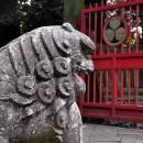 仙波東照宮 狛犬と葵紋