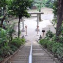 愛宕神社古墳 墳頂から