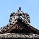 南大塚菅原神社 拝殿の屋根瓦
