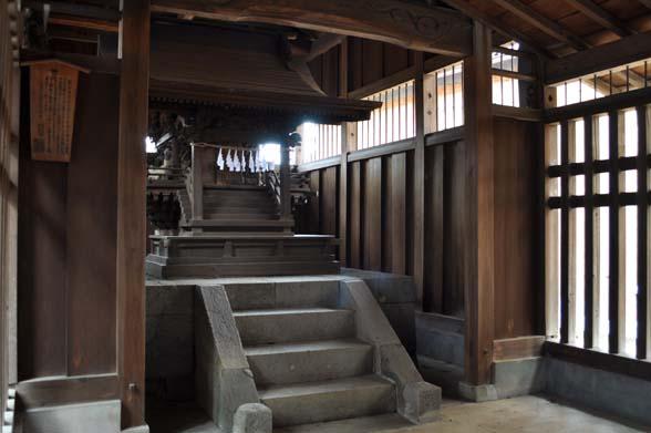 木野目稲荷神社 本殿 付嘉英5年棟札